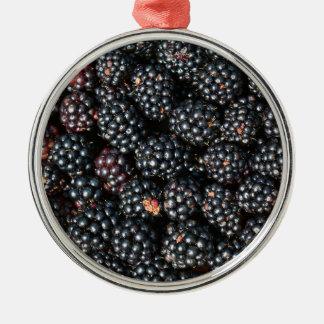 BlackBerry Rundes Silberfarbenes Ornament