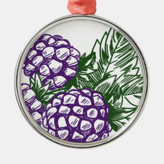 BlackBerry Silbernes Ornament