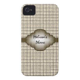 BlackBerry-Telefon-Kasten Browns beige Vintager