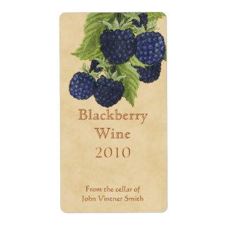 BlackBerryweinflaschenaufkleber Großer Adressaufkleber