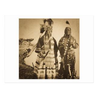 Blackfoot amerikanischer Ureinwohner Leiter und Postkarte