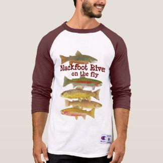 Blackfoot Fluss-Fliegen-Fischen T-Shirt