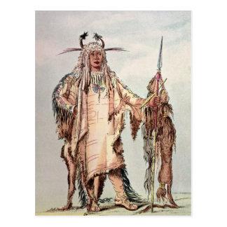 Blackfoot indischer PET-Toh-Pipi-Kuss, die Postkarte
