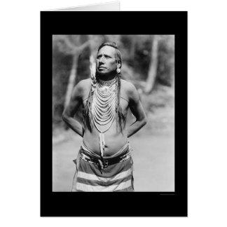 Blackfoot Leiter Erstechen-durch-Nustah 1922 Karte