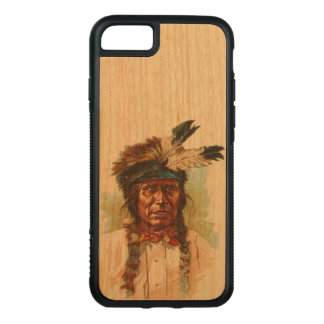 Blackfoot-Sioux-Leiter: Roter Donner Carved iPhone 8/7 Hülle