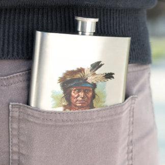 Blackfoot-Sioux-Leiter: Roter Donner Flachmann