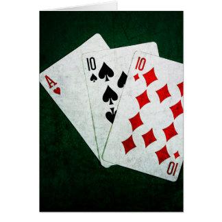 Blackjack 21 Punkt - Ace, zehn, zehn Karte