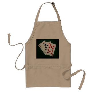 Blackjack 21 Punkt - Ace, zehn, zehn Schürze