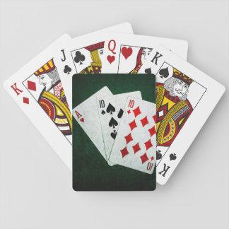 Blackjack 21 Punkt - Ace, zehn, zehn Spielkarten