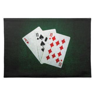 Blackjack 21 Punkt - Ace, zehn, zehn Tischset