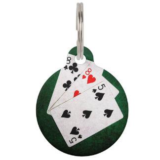 Blackjack 21 Punkt - acht, acht, fünf Tiernamensmarke