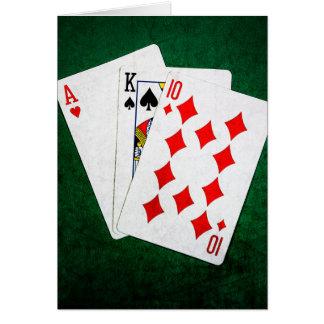 Blackjack 21 Punkt - As, König, zehn Karte