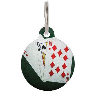 Blackjack 21 Punkt - As, Königin, zehn Tiermarke
