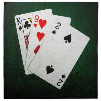 Blackjack 21 Punkt - König, neun, zwei Serviette