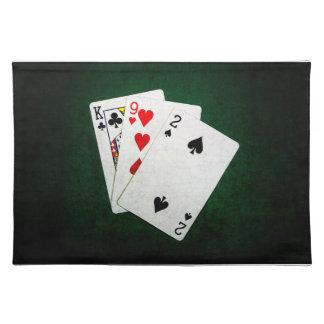 Blackjack 21 Punkt - König, neun, zwei Stofftischset