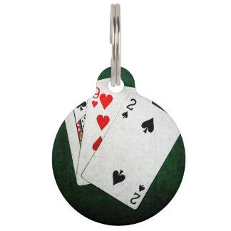 Blackjack 21 Punkt - König, neun, zwei Tiernamensmarke