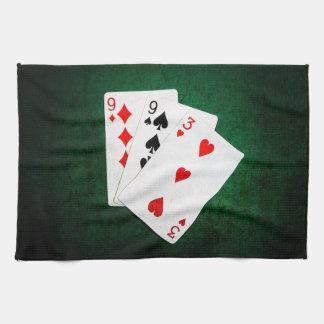 Blackjack 21 Punkt - neun, neun, drei Handtuch
