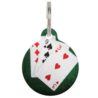 Blackjack 21 Punkt - neun, neun, drei Haustiermarke