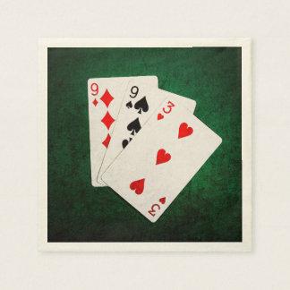 Blackjack 21 Punkt - neun, neun, drei Papierserviette