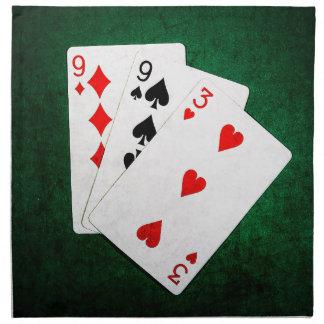 Blackjack 21 Punkt - neun, neun, drei Stoffserviette