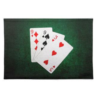 Blackjack 21 Punkt - neun, neun, drei Stofftischset