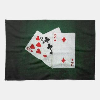 Blackjack 21 Punkt - zehn, neun, zwei Geschirrtuch