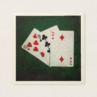 Blackjack 21 Punkt - zehn, neun, zwei Serviette