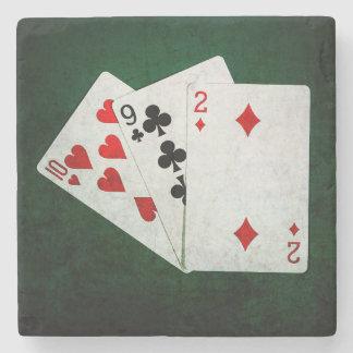 Blackjack 21 Punkt - zehn, neun, zwei Steinuntersetzer