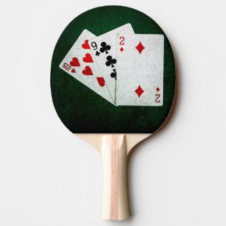 Blackjack 21 Punkt - zehn, neun, zwei Tischtennis Schläger