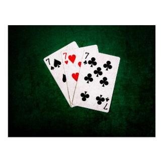 Blackjack 21 - Sieben, sieben, sieben Postkarte