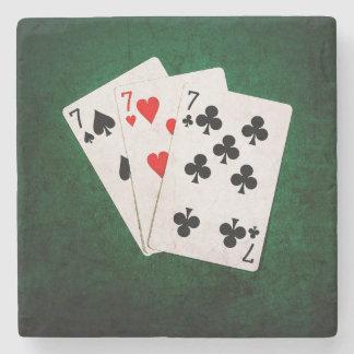 Blackjack 21 - Sieben, sieben, sieben Steinuntersetzer