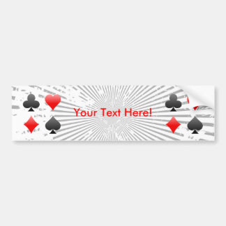 Blackjack-/Poker-Karten-Anzüge: Autoaufkleber