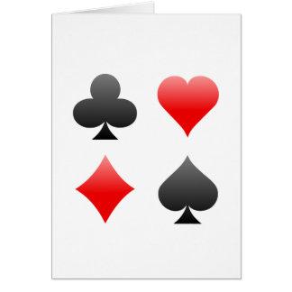 Blackjack-/Poker-Karten-Anzüge: Vektorkunst: Karte
