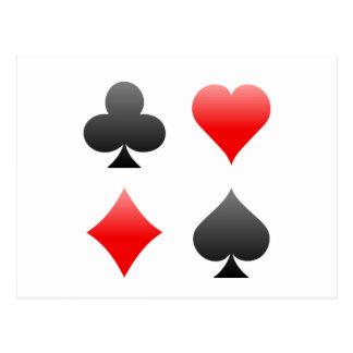 Blackjack-/Poker-Karten-Anzüge: Vektorkunst: Postkarte