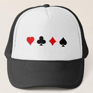 Blackjack-/Poker-Karten-Anzüge: Vektorkunst: Truckerkappe