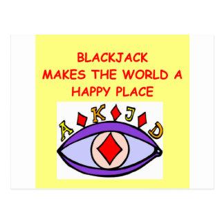 Blackjack Postkarte