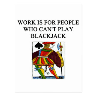 Blackjackspielerfreude Postkarte
