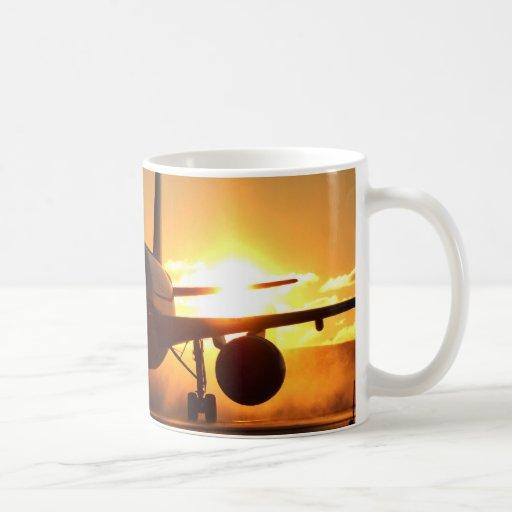 blackjet am Sonnenuntergang Kaffee Tasse
