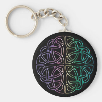 Blacklight Regenbogen-keltischer Knoten Keychain Schlüsselanhänger