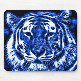 Blacklight Tiger-Geist-Fraktal-Tierdruck Mousepad