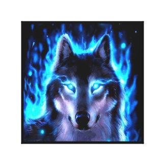 BLACKLIGHT WOLF-LEINWAND-WAND-DEKORATION LEINWANDDRUCK