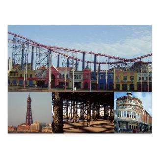 Blackpool 4 Bilder Postkarte