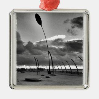 Blackpool-Hülse Silbernes Ornament