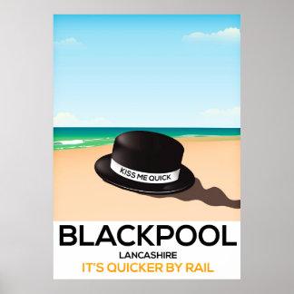 """Blackpool """"küssen mich schnell"""" poster"""