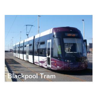 Blackpool-Tram Postkarte