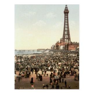 Blackpool-Turm, Lancashire, England, c.1895 Postkarte