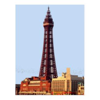 Blackpool-Turm Postkarte