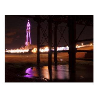 Blackpool-Turmlichter Postkarte