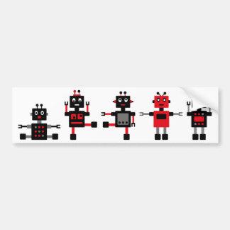 BlackRobot4 Autoaufkleber