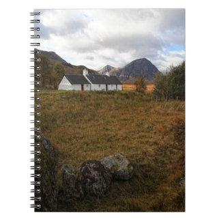 Blackrock Hütte, Glencoe, Schottland Spiral Notizblock
